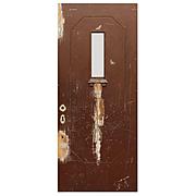 "Reclaimed Antique 36"" Door with Dentil Trim"