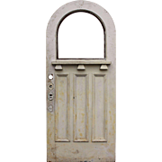 """Reclaimed Antique 36"""" Door with Arched Window"""
