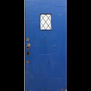 "Reclaimed 36"" Plank Door with Leaded Glass"