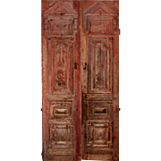 "Salvaged Pair of Antique 48"" Double Doors"