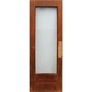 """Salvaged 30"""" Door with Original Wire Glass, Early 1900s"""
