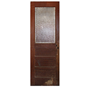 """Salvaged 28"""" Door with Florentine Glass, Early 1900s"""
