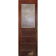 "Salvaged 28"" Door with Florentine Glass, Early 1900s"