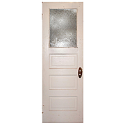 """Reclaimed 28"""" Door with Florentine Glass, Early 1900s"""