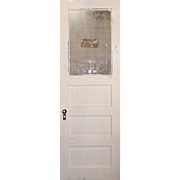 "Salvaged 28"" Door with Privacy Glass, Early 1900s"
