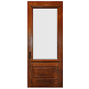 """Salvaged 34"""" Door with Beveled Glass, Egg-and-Dart"""