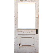 "Salvaged 34"" Door with Carved Details, Early 1900s"