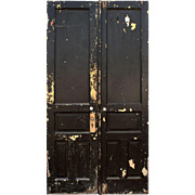 "Salvaged Pair of Antique 46"" Double Doors"