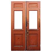 "Reclaimed 48"" Pair of Antique Doors, Early 1900s"