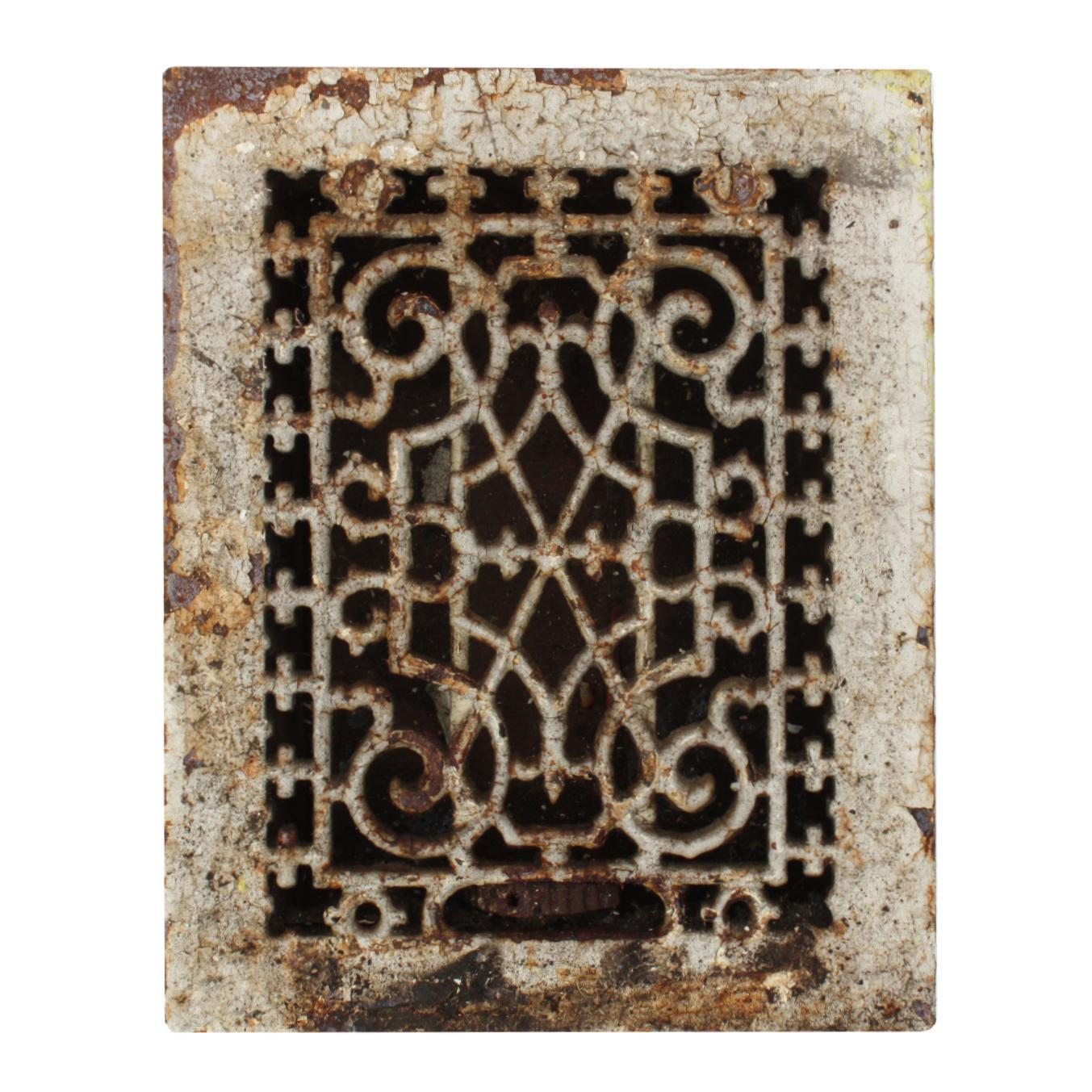 Elegant Antique Cast Iron Heat Register