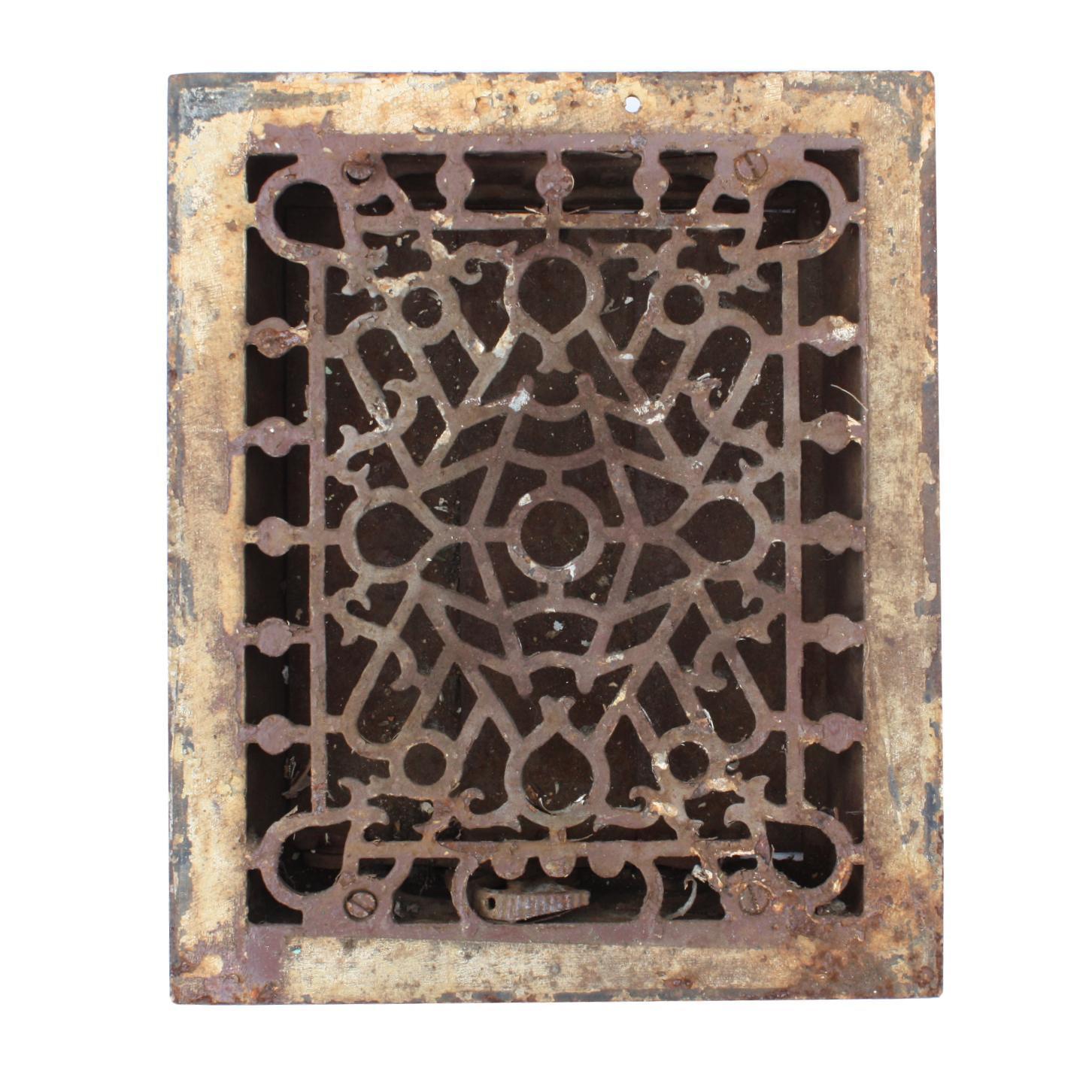 Playful Antique Cast Iron Heat Register