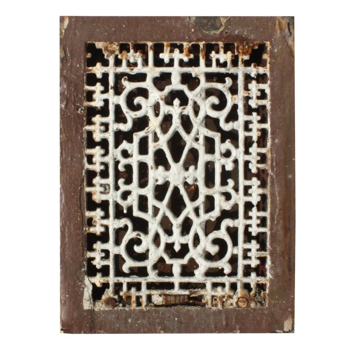 Antique Fleur-De-Lis Cast Iron Heat Register