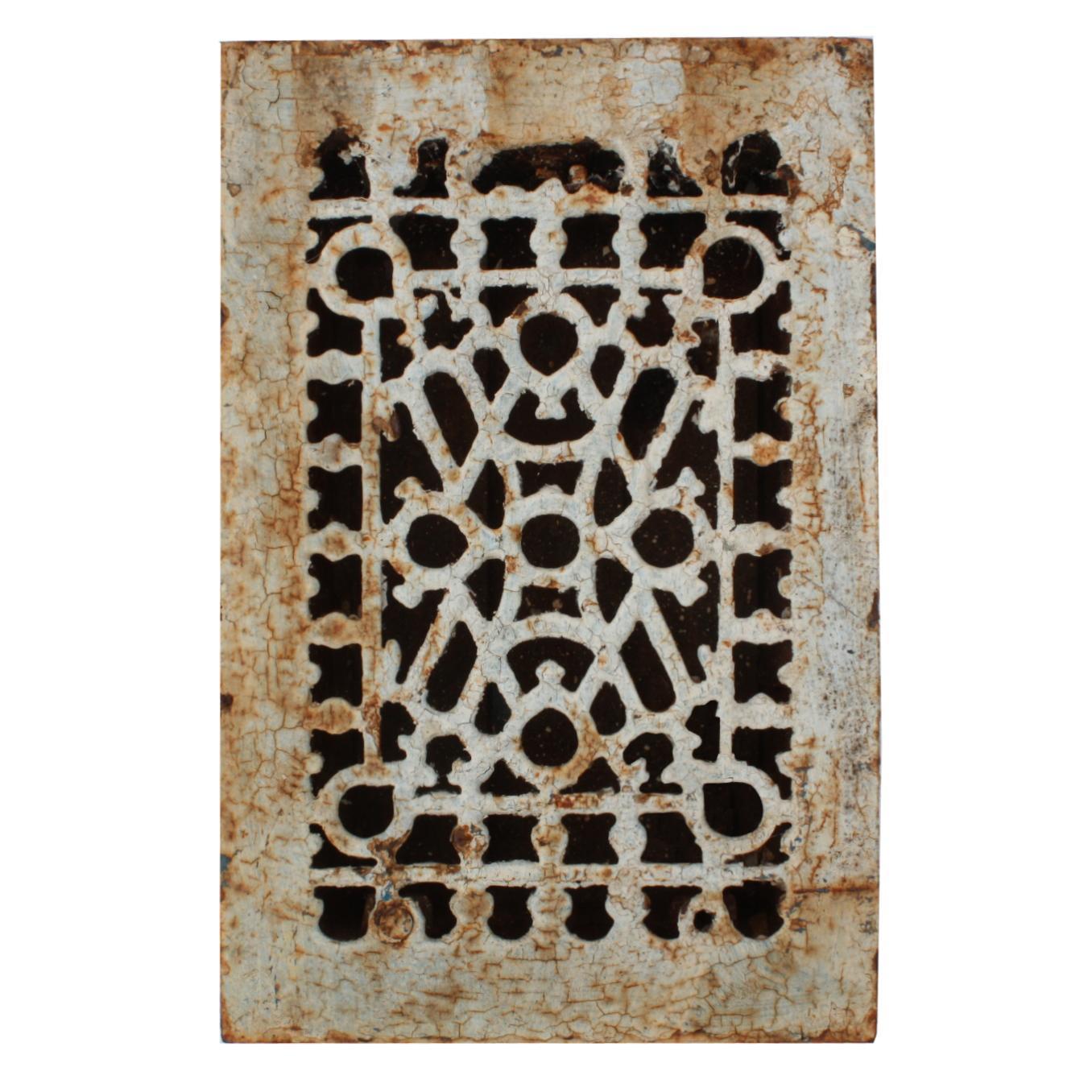 Abstract Antique Cast Iron Heat Register