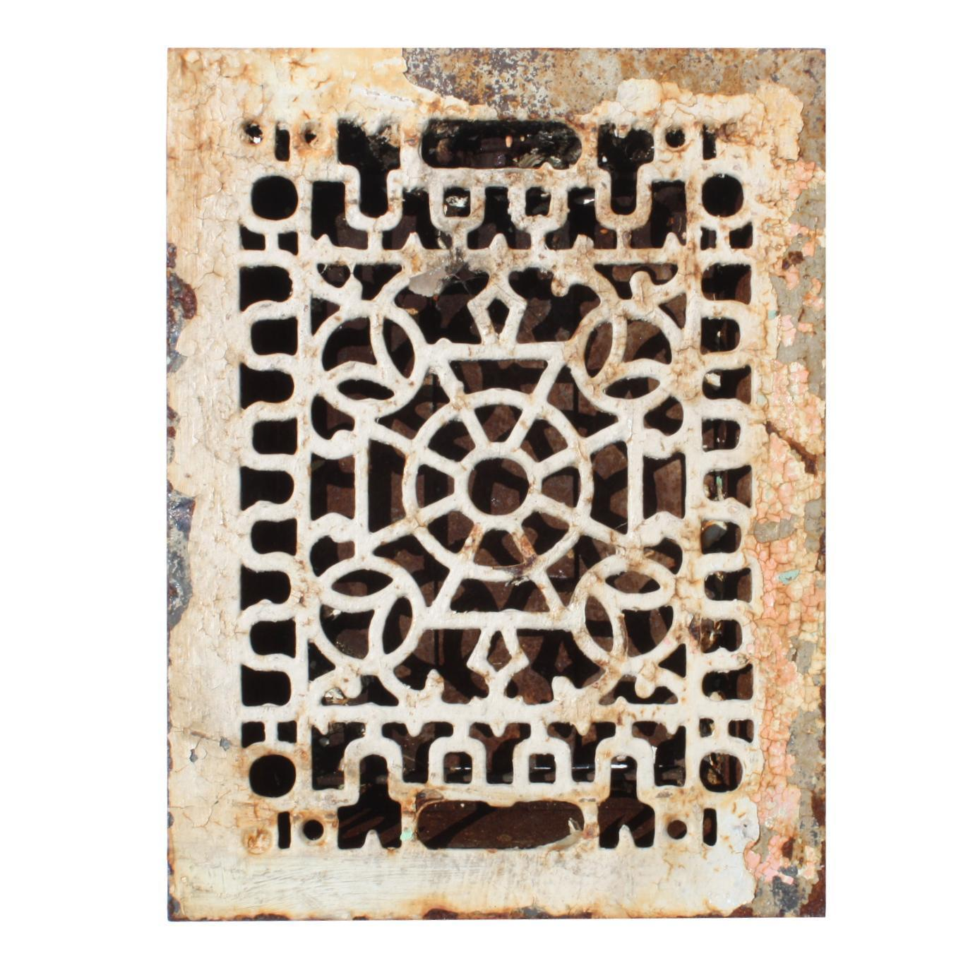 Radial Antique Cast Iron Heat Register