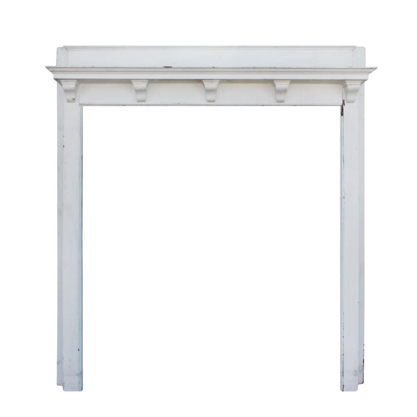 Understated Antique Fireplace Mantel, Robert Mitchell Furniture Co.