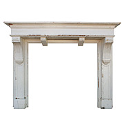 Handsome Antique Arts & Crafts Fireplace Mantel, c.1920
