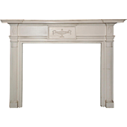Antique Adam Style Fireplace Mantel, Early 1900s