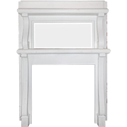 Antique Mantel with Beveled Mirror, c.1900