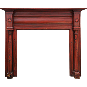 Reclaimed Antique Fireplace Mantel, Mid 19th Century