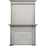 Antique Neoclassical Faux Fireplace Mantel