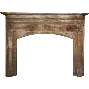 Salvaged Antique Fireplace Mantel, Mid 19th Century