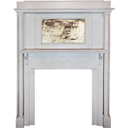Reclaimed Antique Mantel with Aged Mirror, Early 1900's