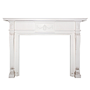 Antique Neoclassical Mantel with Figural Details