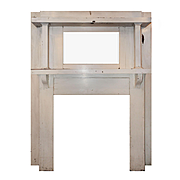 Reclaimed Antique Mantel with Beveled Mirror, c.1900