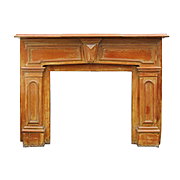 Salvaged Antique Fireplace Mantel, Early 1900s