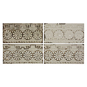 "Antique Tiles with Floral Design, Trent Tile Company, 6"" x 3"""