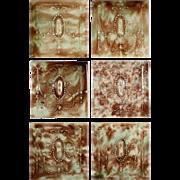 "Elegant Antique Tiles with Ribbons, 6"" x 6"", Cambridge Tile Co."