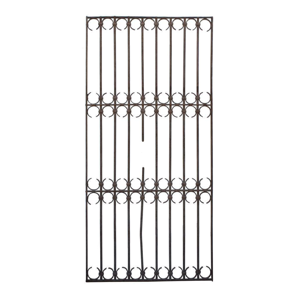 Large Antique French Colonial Iron Gates, 19th Century
