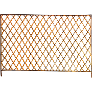Antique Geometric Ironwork Panel