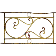 Antique Ironwork Panel with Volutes