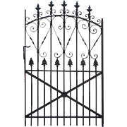 Antique Arched Wrought Iron Gate, c.1880