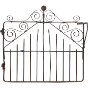 Antique Wrought Iron Gate, Boyer-Radford Mfg Co.