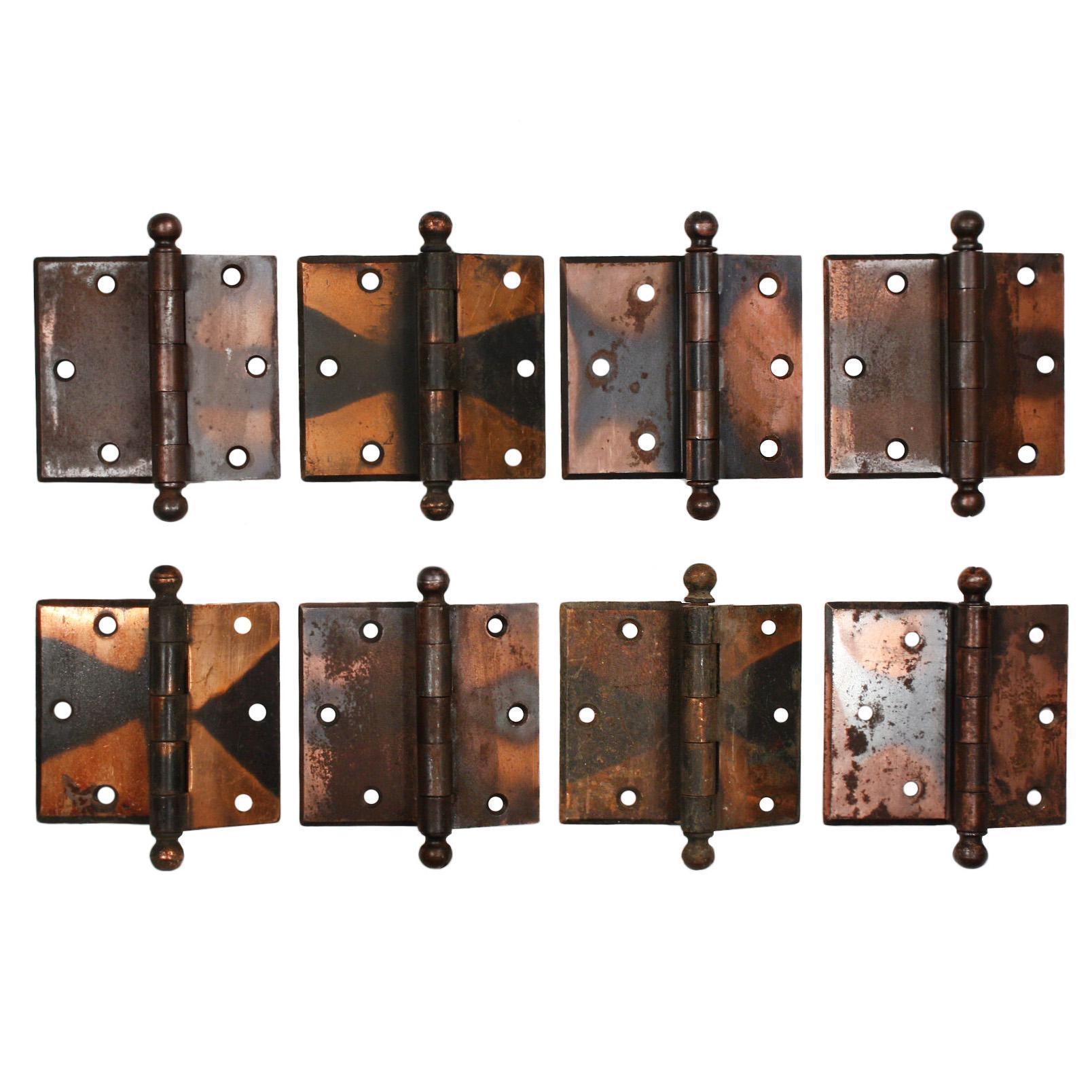 "Antique 3-1/2"" Offset Hinges, Japanned Finish"