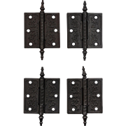 "Pairs of Antique Cast Iron 3.5"" Hinges, c. 1880's"