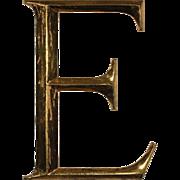 """Reclaimed Cast Bronze Letter """"E"""", Cincinnati, OH"""