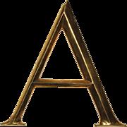 """Reclaimed Cast Bronze Letter """"A"""", Cincinnati, OH"""