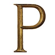 """Salvaged Cast Bronze Letter """"P"""", Cincinnati, OH"""