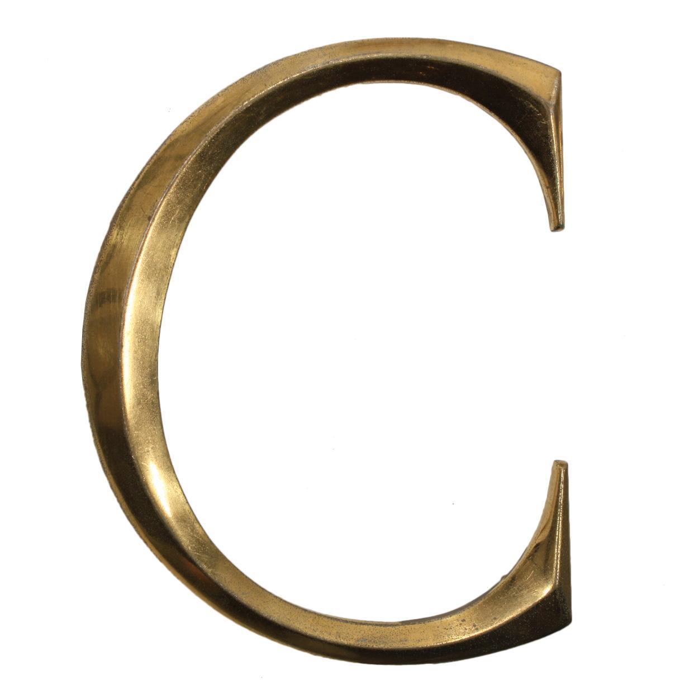 """Salvaged Cast Bronze Letter """"C"""", Cincinnati, OH"""