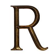 """Salvaged Cast Bronze Letter """"R"""", Cincinnati, OH"""