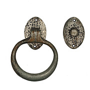 Antique Hammered Door Knocker with Backing Plate