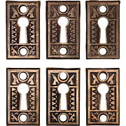 Antique Eastlake Keyhole Escutcheons, c. 1880's