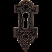 Antique Eastlake Keyhole Escutcheons, Late 19th Century