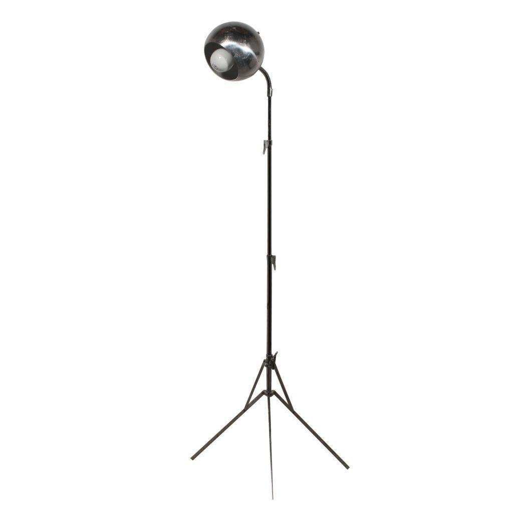 "Futuristic Midcentury ""Eyeball"" Space Age Floor Lamp, Chrome"
