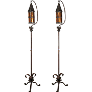 Hand-Wrought Tudor Floor Lamps, Early 1900s