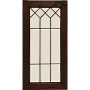Geometric Antique American Leaded Glass Windows