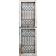 Antique American Leaded Glass Window Sash Set